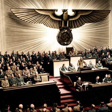היטלר נואם בפני חברי הפרלמנט